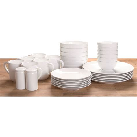 new dinnerware tableware serving dish dinner plates cups set 32 set white ebay