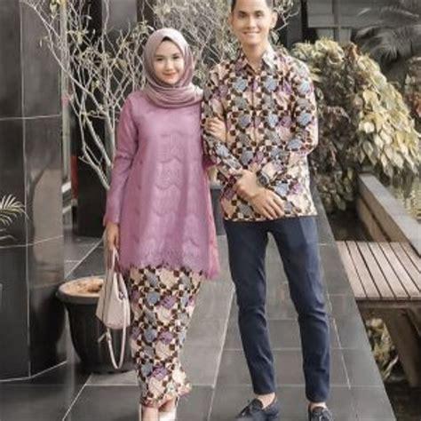 jual couple batik sarimbit brokat model terbaru  lapak