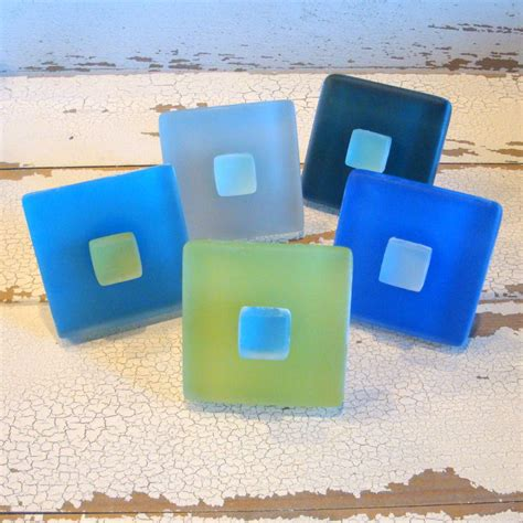 Sea Glass Drawer Pulls by Glass Tile Cabinet Knob Drawer Pull Sea Glass