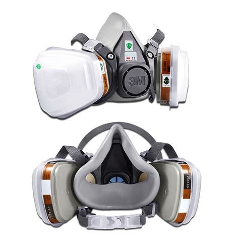 Masker Respirator 3m 6200 7 In 1 3m 6200 7 in1 suit spray paint dust mask vapour particulate reusable respirator ebay