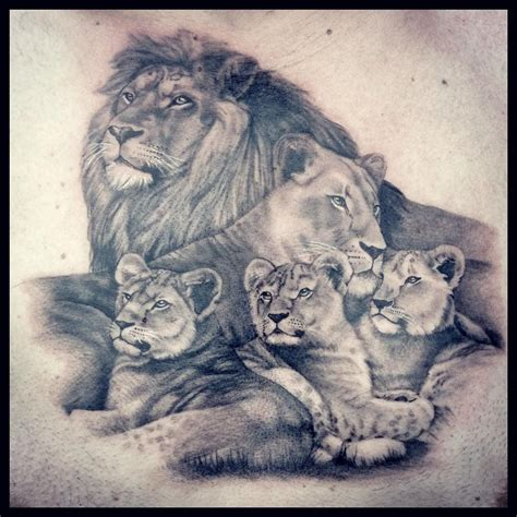 lion family tattoo 70 likes 4 comments lendel ladyvlendel on