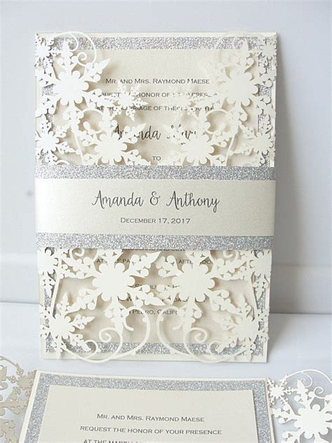 Winter Wedding Invitations by Winter Wedding Invitation Snowflake Wedding By