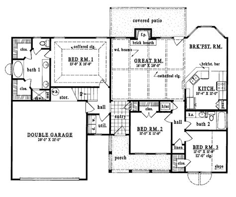 country one story house plans one story country house plans smalltowndjs