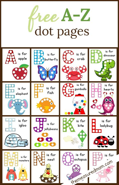 Letter Stickers dot sticker pages alphabet worksheets worksheets and