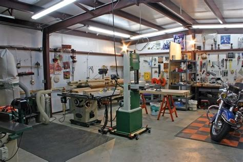 garage shop layout ideas woodshop