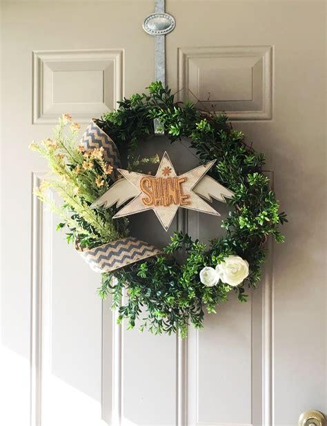 diy front door wreath guest post   milso beginning
