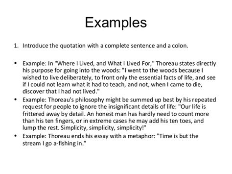 Introduction Quotation Letter Introducing Quotations