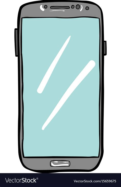 smart mobile phone image of cellphone icon smartphone vector image