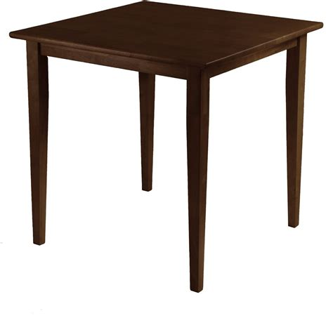 Square Walnut Dining Table Groveland Antique Walnut Square Dining Table 94035 Winsome