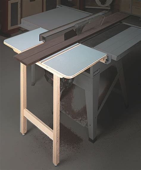 Table Saw Outfeed Support Woodworking Pinterest