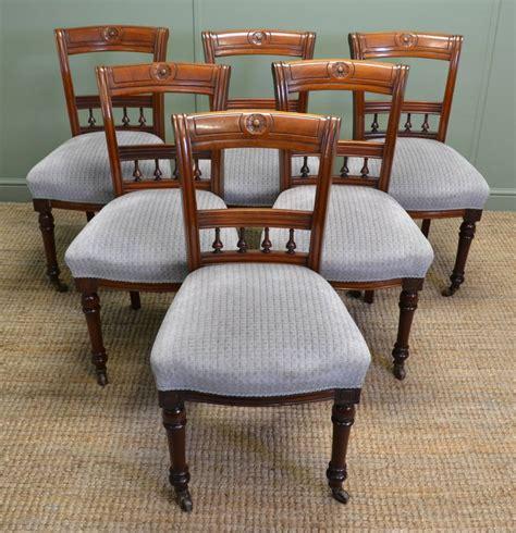 set   victorian walnut antique dining chairs