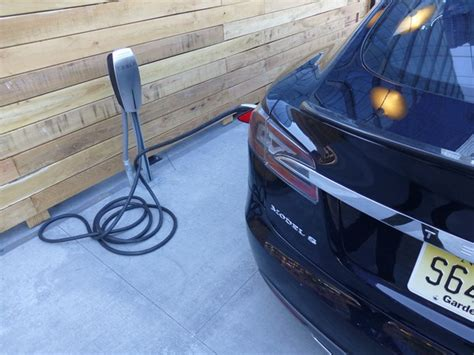 Charging Tesla At Home Panasonic S Company Car A Tesla Model S Plugincars