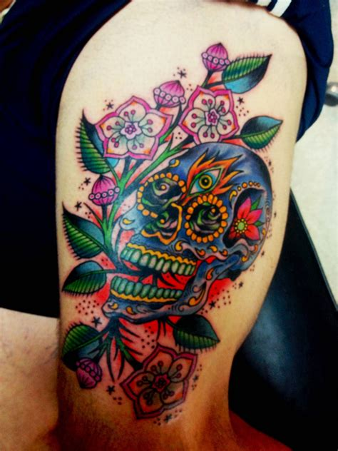 colorful skull tattoo designs sugar skull images for tatouage