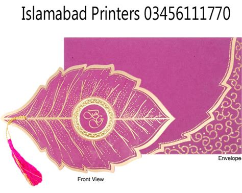 Wedding Card Design With Price by Wedding Cards Designs With Price Islamabad Printers