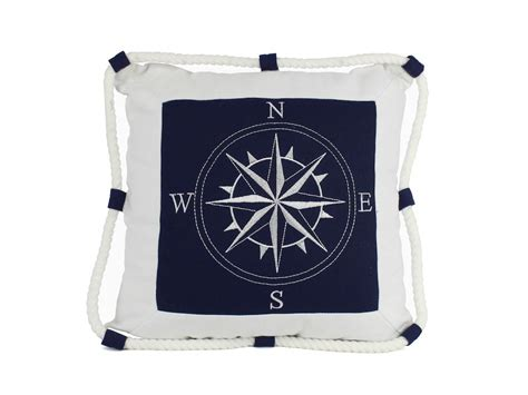 Nautical Pillows Wholesale by Wholesale Blue Compass With Nautical Rope Decorative Throw