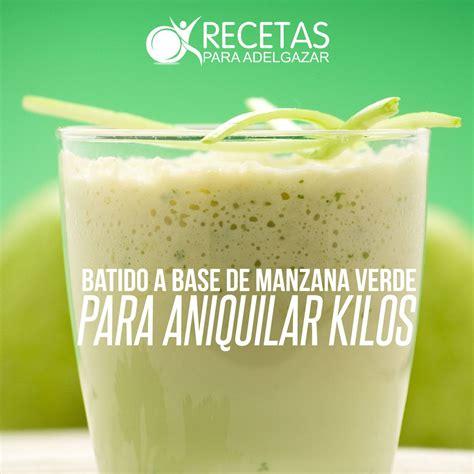 Batido Detox Con Manzana Verde by Batido A Base De Manzana Verde Para Aniquilar Kilos
