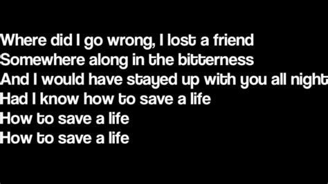 the fray how to save a life mp download how to save a life the fray lyrics youtube