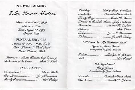 funeral program template funeral programs obituary template
