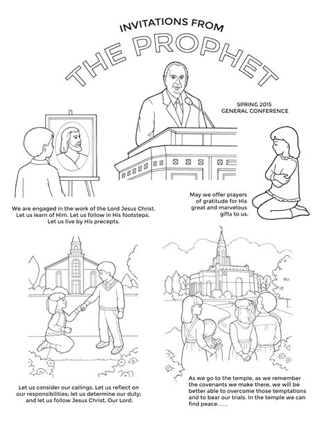 president monson general conference coloring page coloring