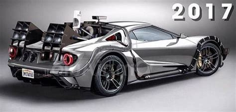 Back To The Future Ford by 2017 Ford Gt Goes Back To The Future In Awesome Rendering