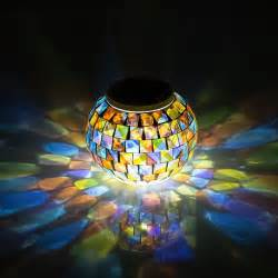 Best Solar Powered Landscape Lights Aliexpress Buy Solar Powered Mosaic Glass Garden Lights Color Changing Solar Table