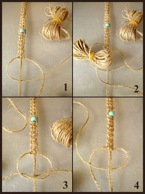 Simple Macrame - how to make basic macrame knots crafts