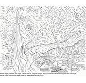 The Starry Night Coloring Page  Home