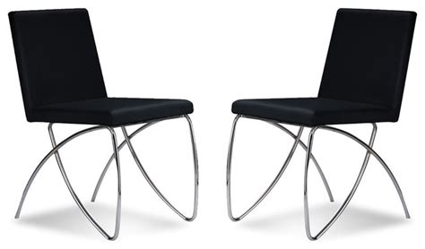 Black Modern Dining Chairs by Scarlet Black Dining Chair Set Modern Dining Chairs