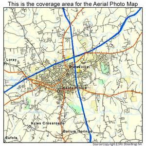 aerial photography map of statesville nc carolina