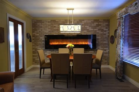 Dining Room Electric Fireplace Electric Fireplace Design Services Toronto Stylish