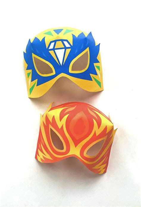 printable luchador masks the 323 best images about printable paper crafts on
