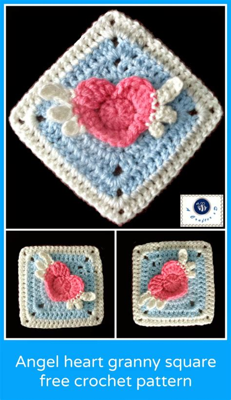 pattern for heart granny square crochet hearts free patterns for valentine s day