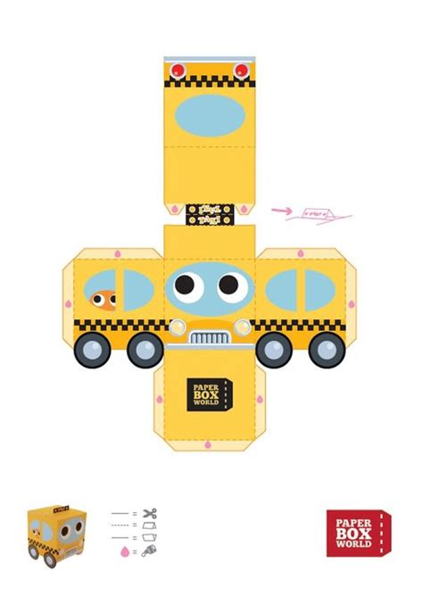 templates for toy boxes toys paper toys and world on pinterest