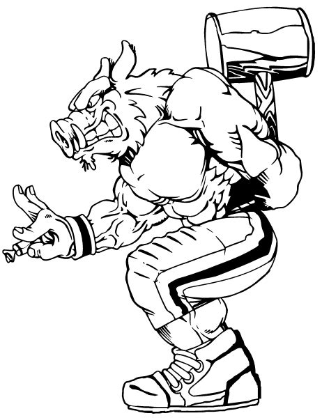 college mascots free coloring pages
