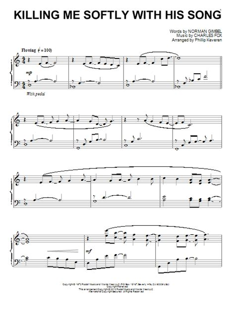 tutorial piano killing me softly killing me softly with his song sheet music direct