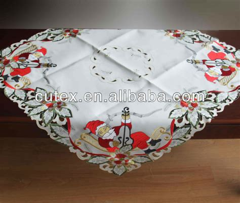 christmas table cover christmas embroidery table cover