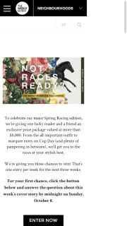 The Weekly Spree by The Weekly Review Win A Racing Pack Including