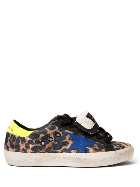 leopard sneakers golden goose deluxe brand superstar leopard sneakers in