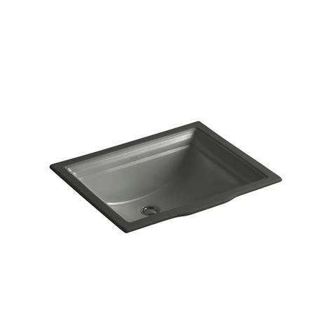 kohler thunder grey sink kohler memoirs undercounter bathroom sink in thunder grey