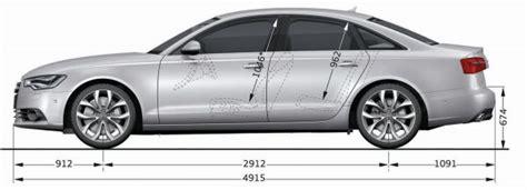 Radstand Audi A6 by Audi A6 C7 Abmessungen Technische Daten L 228 Nge