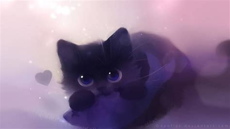 wallpaper cute anime cat cat anime breathtaking black cat images hd wallpaper