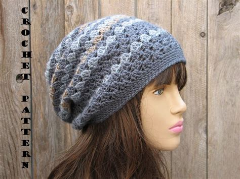 free crochet pattern hat pinterest slouch hat crochet pattern free easy crochet patterns