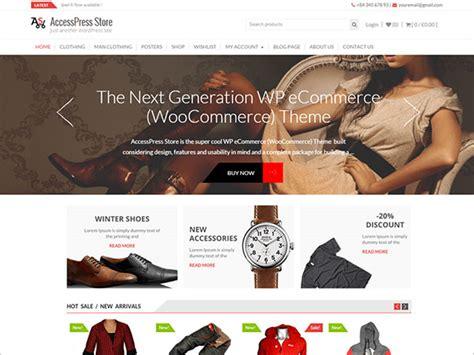 themes wordpress woocommerce free 15 latest best free e commerce wordpress themes 2016 for