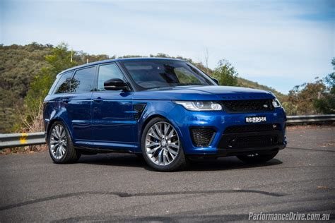 range rover sport blue 2016 range rover sport svr review video performancedrive