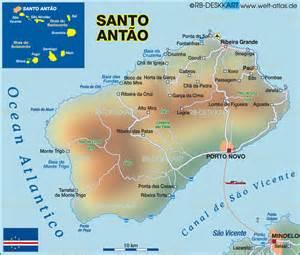c verde map map of santo antao cape verde cape verde