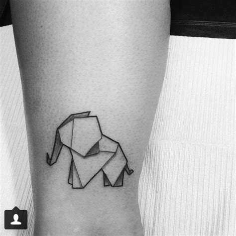 origami elephant tattoo best 25 small elephant tattoos ideas on