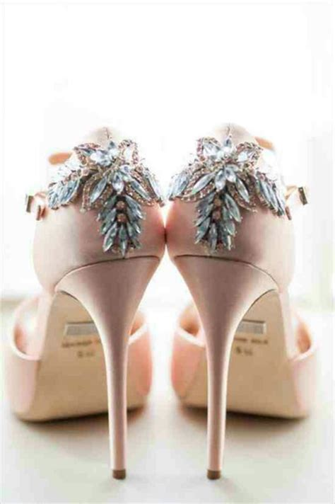 Blush Bridal Heels by Shoes Wedding Shoes Blush Pink Bling Heels Wheretoget