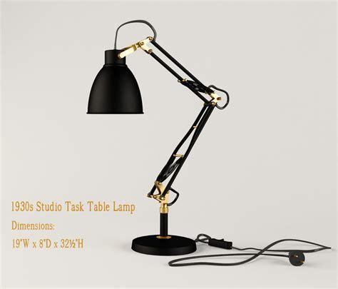response restoration lights restoration hardware 1930s studio task table l 3d model