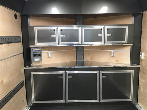 aluminum cabinets enclosed trailer cabinets appealing enclosed trailer cabinets design v