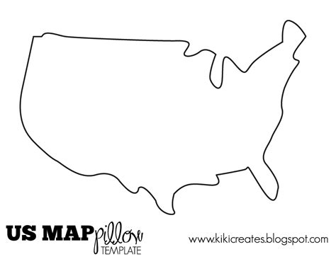 usa map outline with states the us map pillow tutorial company